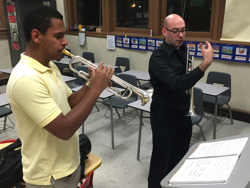 Trumpeter and student musician