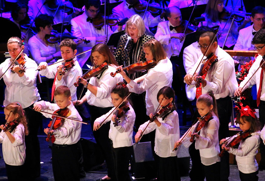 String students from the Valenches Music Company and Suzuki School for Strings