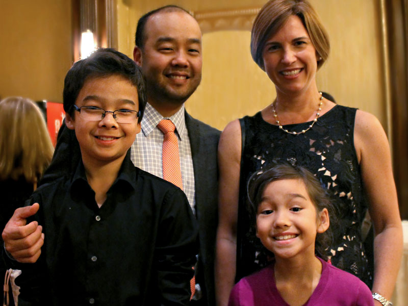 Conductor Lawrence Loh with his family