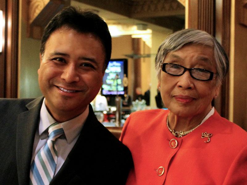 Jon Nakamatsu and his mother