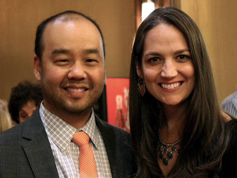 Lawrence Loh and Apprentice Conductor Michelle Merrill